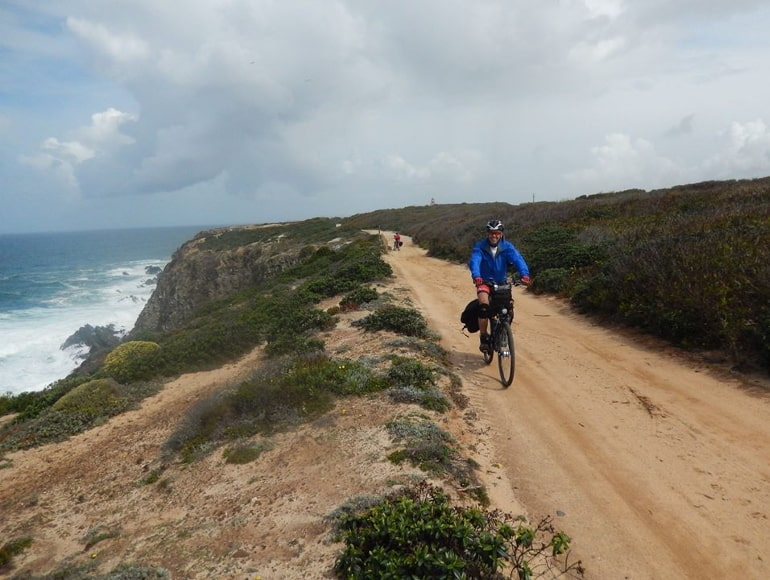 Cycling along the west coast