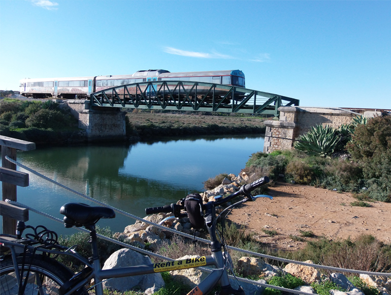 Train bridge view in bike tour: Holidays to Portugal Algarve | MegaSport Travel