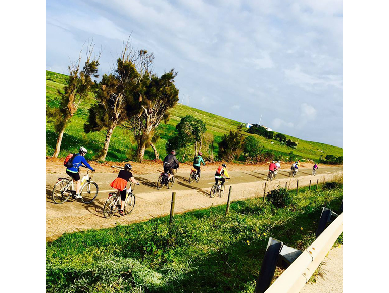Bike touring group in country side in a Algarve Day Trip | MegaSport Travel