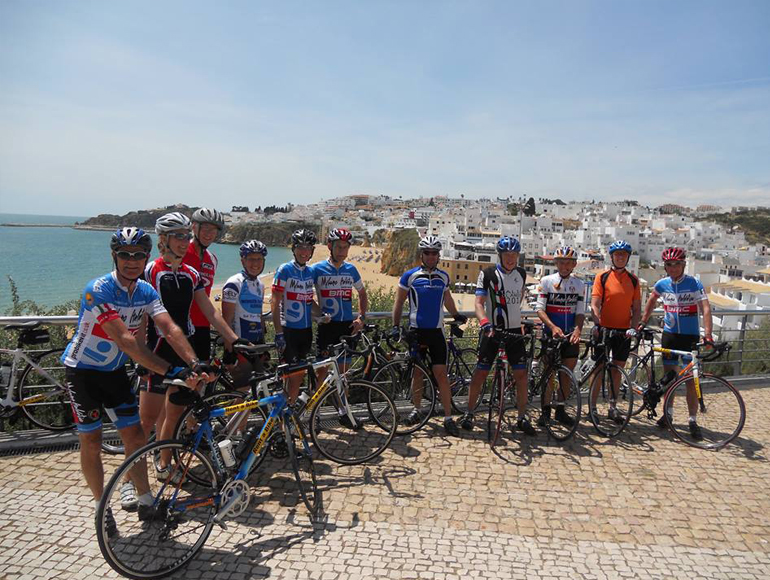 Cycling Team on a break in Backroads Bike Trips | MegaSport Travel