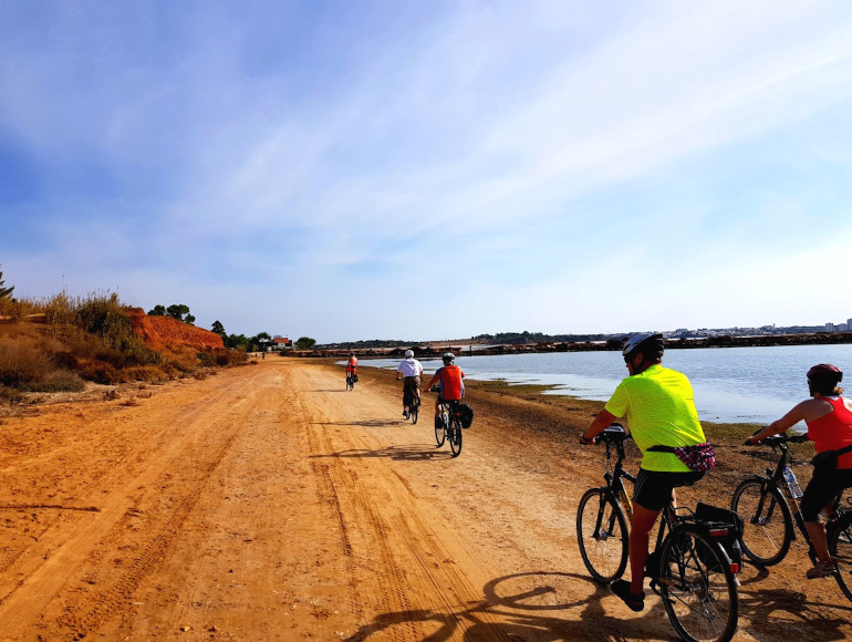 Cycling near Ria de Alvor