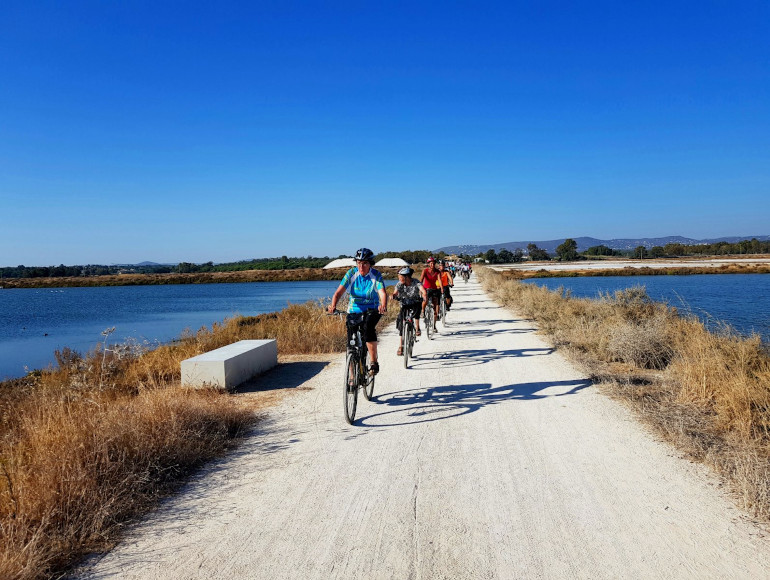 Guided Cycling Tour Ria Formosa Natural Park, saltpans