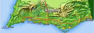 Algarve Map for Biking Tours and Cycling Holidays Abroad | MegaSport Travel